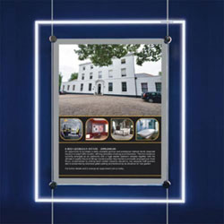 Estate Agent Style Led Light Panel Cable Display Window